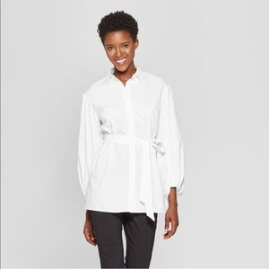 🌿Women's white longe sleeve blouse